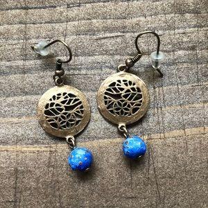 Upcycled Gold & Celestial Earrings